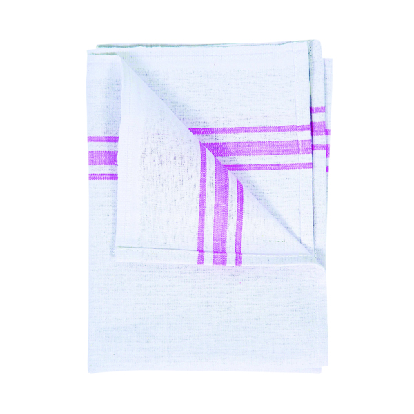 White Cotton Tea Towel 190 x 290mm (Pack of 10) 102810