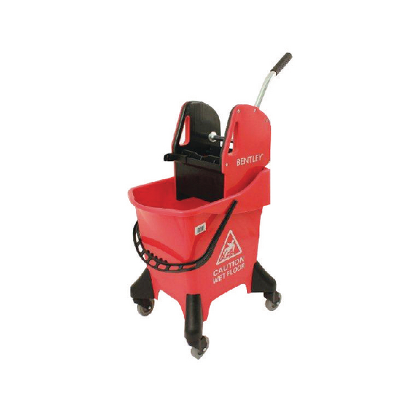 Hygineer Ergonomic Heavy Duty Mop Bucket Red 31 Litre HRMB31/R