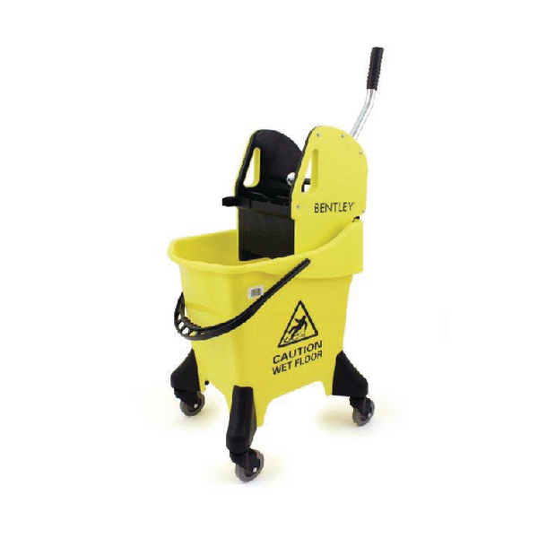 Hygineer Ergonomic Heavy Duty Mop Bucket Yellow 31 Litre HRMB31/Y
