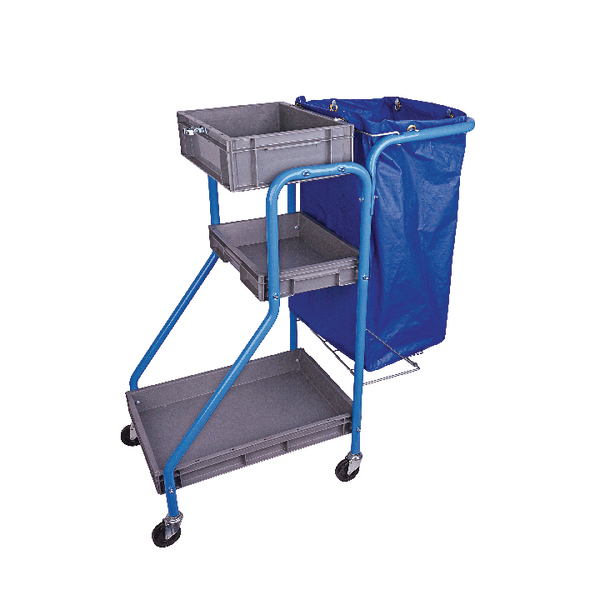 Port-A-Cart 100 Litre Cleaning Trolley (Heavy duty vinyl bag construction) MWPCTO01L