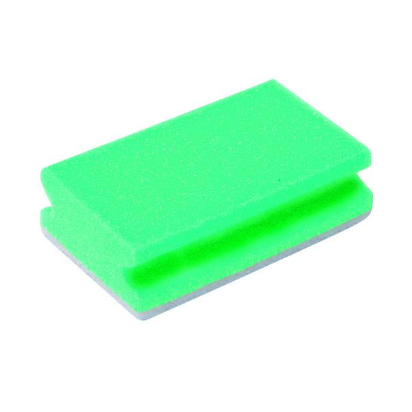 Finger Grip Scourers 130x70x40mm Green (Pack of 10) SPCAGN60I