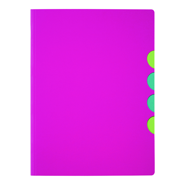 Durable Pagna 5-part Folder A4 Dark Pink (Pack of 10) 4780334