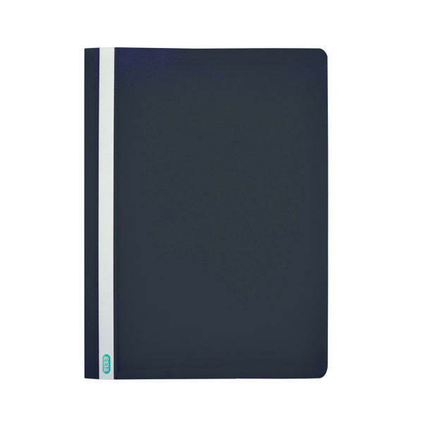 50 x Elba Report File A4 Black (Durable, wipe clean polypropylene with opaque back cover) 400055033