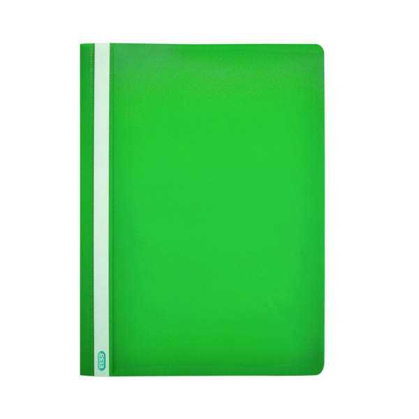 50 x Elba Report File A4 Green (Durable, wipe clean polypropylene with opaque back cover) 400055031