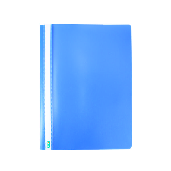 50 x Elba Report File A4 Blue (2 prong, 8cm flat bar mechanism) 400055030