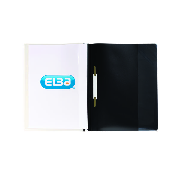 Elba Pocket Report File A4 Black (Pack of 25) 400055036