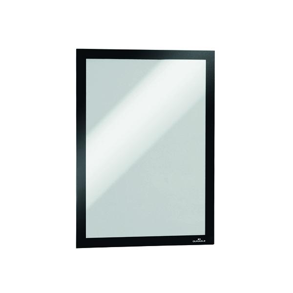Durable Self-Adhesive Duraframe A4 Black (Pack of 2) 4872/01