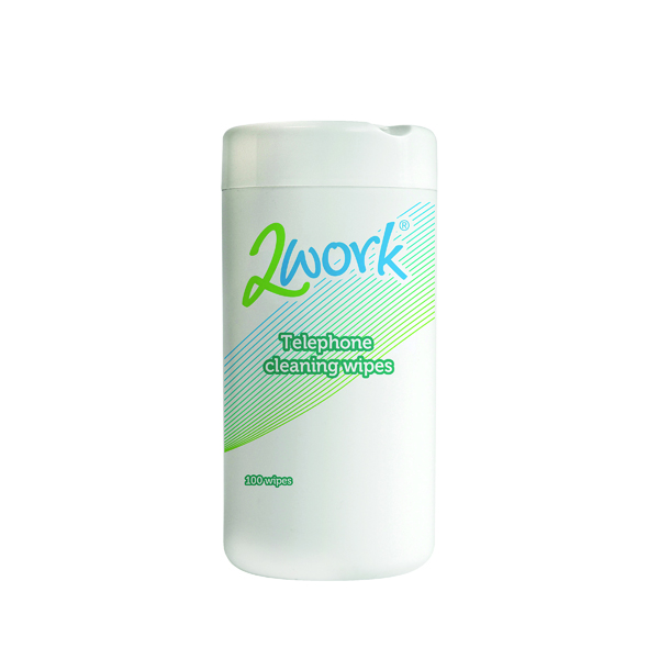 2Work Telephone Cleaning Wipes (Pack of 100) DB50347