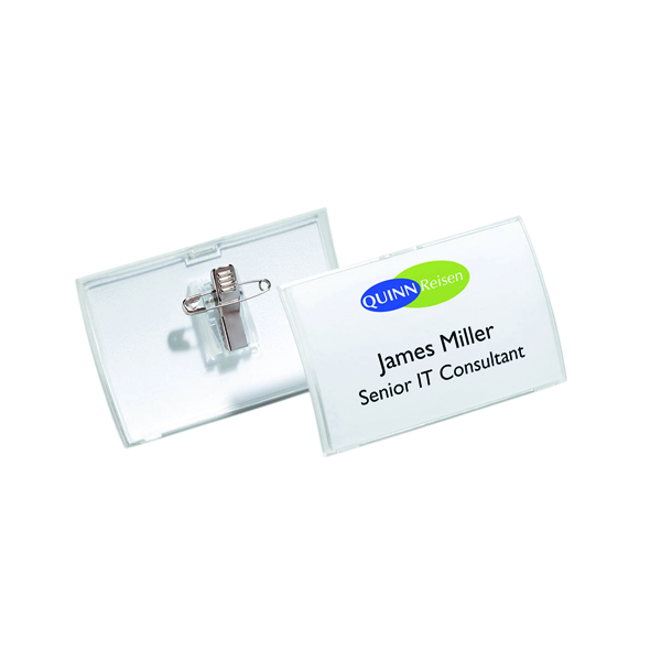 Durable Click Fold Name Badge 54x90mm (Pack of 25) 8214/19