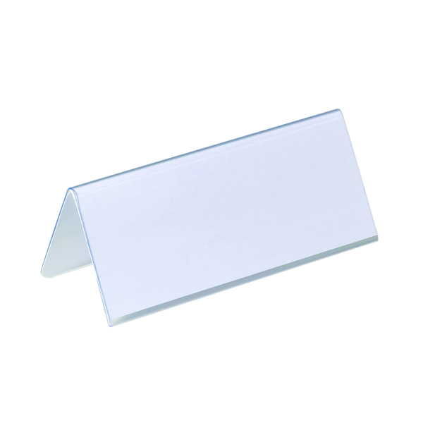Durable Table Place Name Holder 61x150mm (Pack of 25) 8050