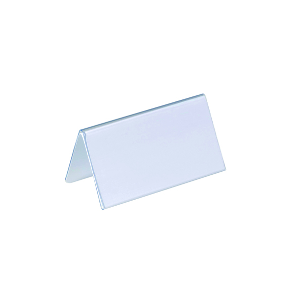 Durable Table Place Name Holder 52x100mm (Pack of 25) 8051