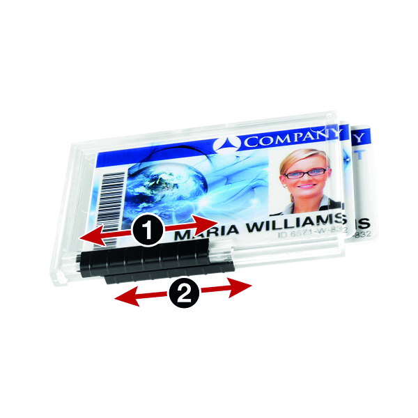 Durable Duo Pushbox Security Pass Holder Clear (Pack of 10) 892119
