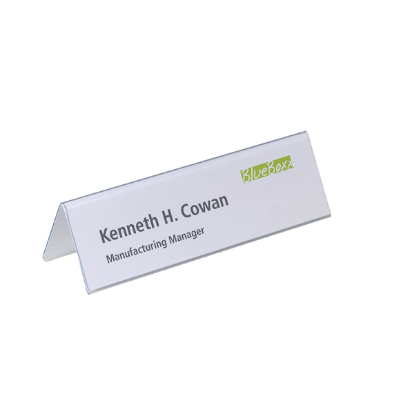 Durable Table Place Name Holder 61x210mm (Pack of 25) 8052/19