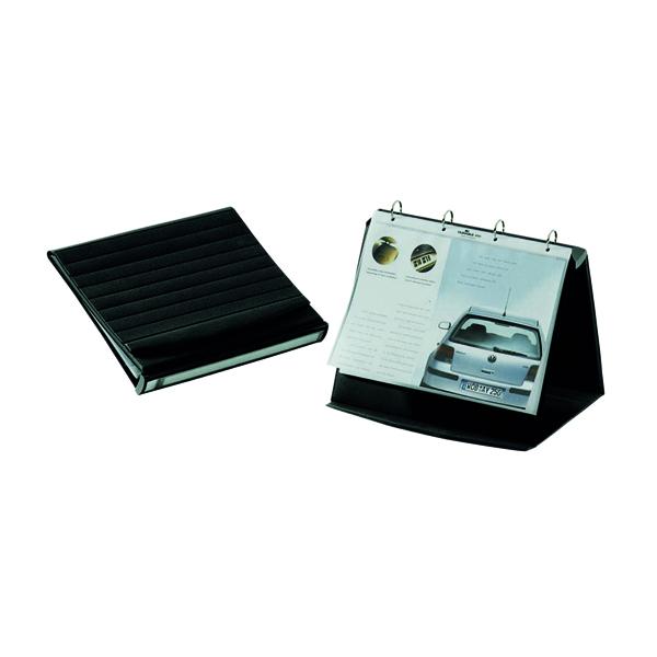 Durable Durastar Table Top Presenter A4 Landscape Black 8567/39