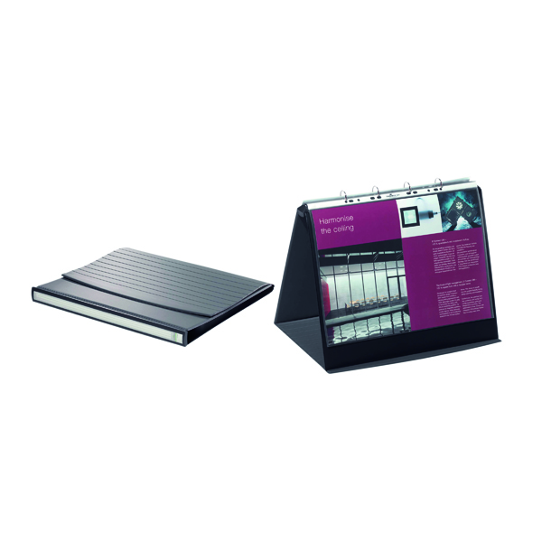 Durable Durastar Table Top Presenter A3 Landscape Black 8569/39