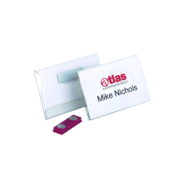 Durable Magnetic Name Badge 54x90mm (Pack of 25) 8117/19