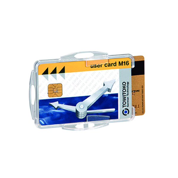 Durable Duo Security Swipe Card Holder (Pack of 50) 999108000