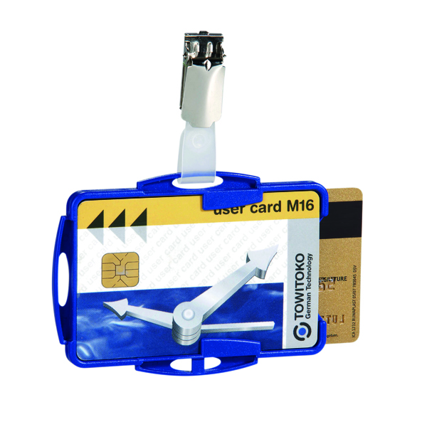 Durable Duo Security Pass Holder Blue (Pack of 25) 8218/06