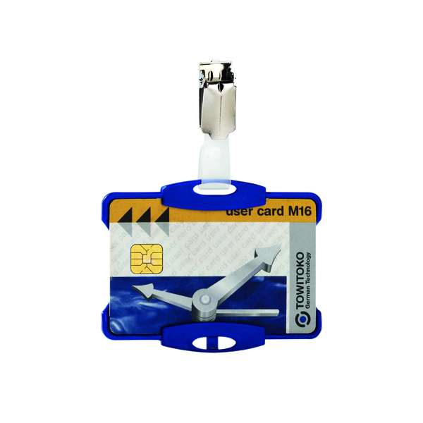 Durable Security Pass Holder Blue (Pack of 25) 8118/06