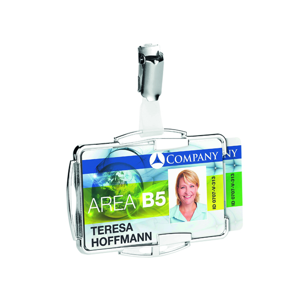 Durable RFID Secure Card Holder Duo (Pack of 10) 8902