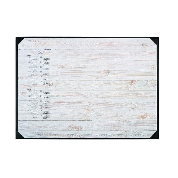 Durable Pinewood Panels Calendar Desk Mat 590 x 420mm 7312