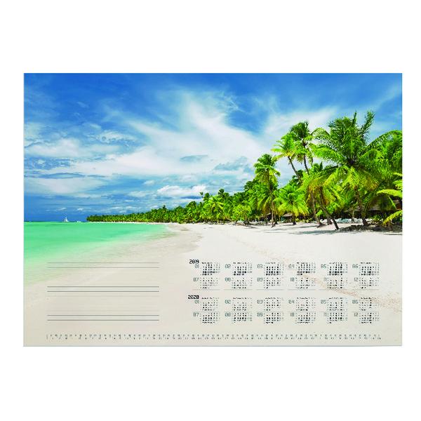 Durable Tropical Beach Calendar Mat Refill 570 x 410mm 7321