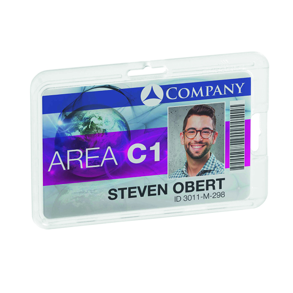 Durable Card Holder Permanent (Pack of 10) 8928