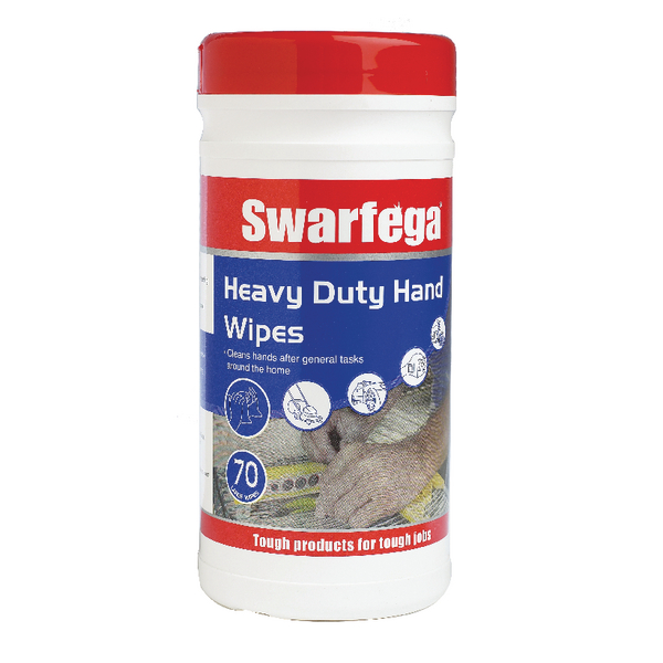 Deb Swarfega Heavy Duty Hand Wipes 70 Sheets (Pack of 6) SWHD70W