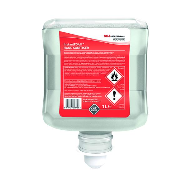 Deb Cutan Foaming Hand Sanitiser Cartridge 1 Litre CFS39H