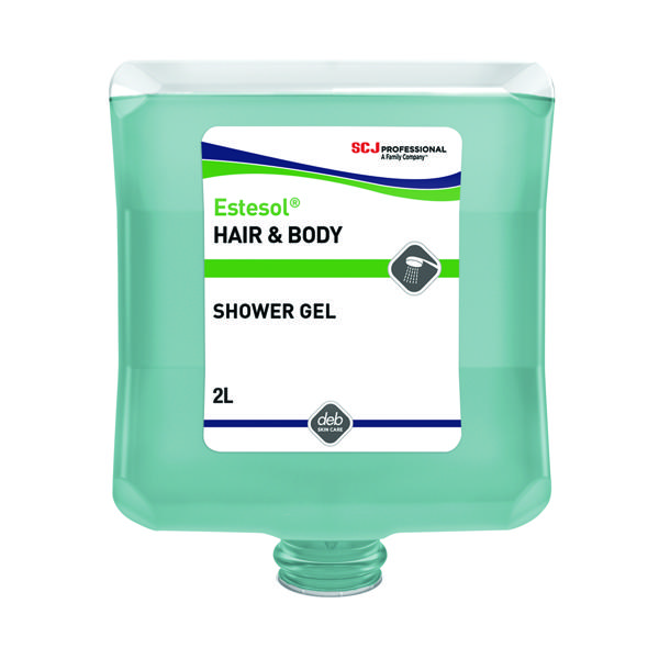 Deb Estesol Hair and Body Wash 2 Litre Cartridge HAB2LT