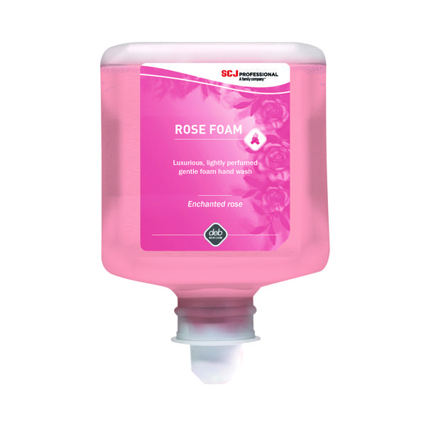 Deb Refresh Rose Foam Wash 1 Litre Cartridge (Pack of 6) RFW1L