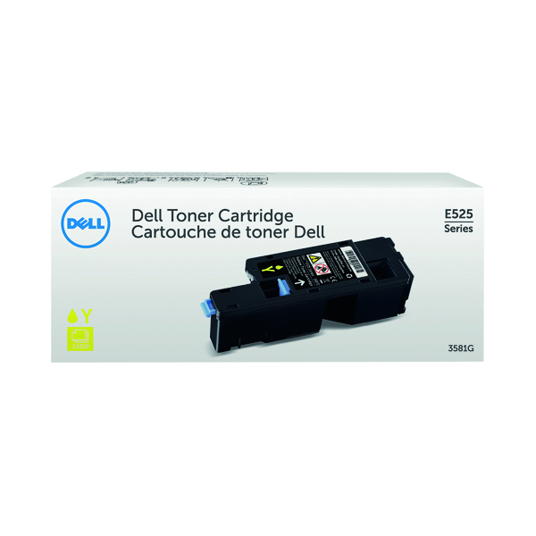 Dell Yellow Toner Cartridge (1,400 Page Capacity) 593-BBLV