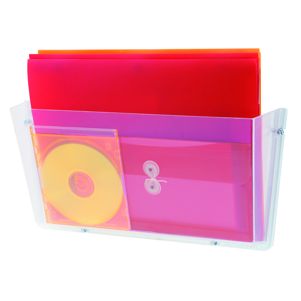 Deflecto Non-Breakable Wall File Pocket A4 (Unbreakable polycarbonate construction) Clear