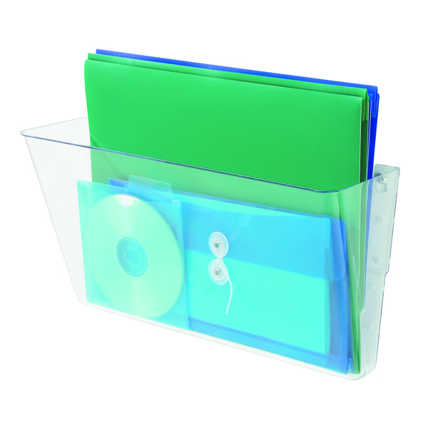 Deflecto Linking Wall File Pocket A4 Clear (Stacked vertically for increased storage) 73201