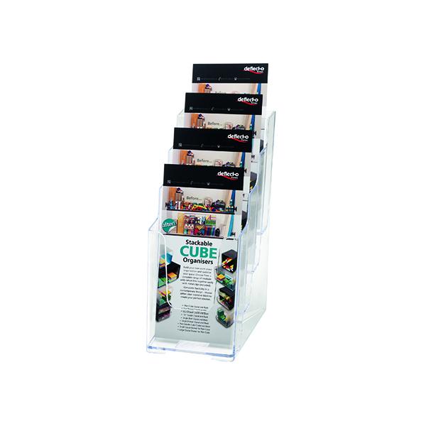 Deflecto 4 Tier Literature Holder 1/3 A4 77701