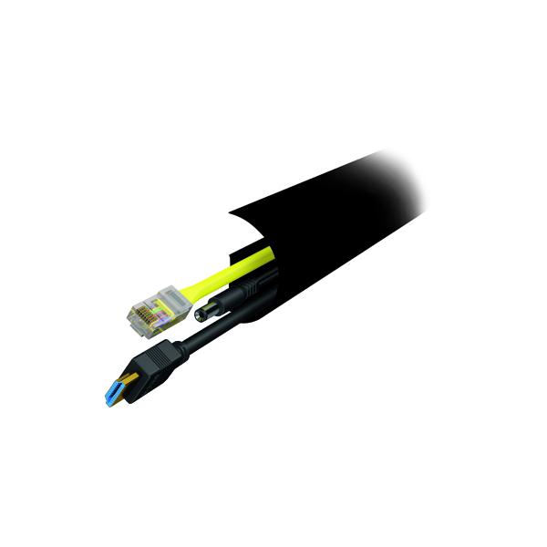 D-Line CableTraC Pack 50x25mm Black TRAC5002