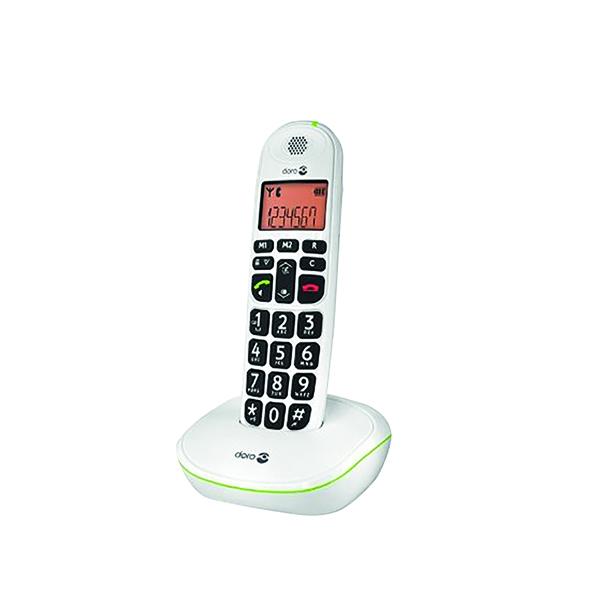 Doro DECT Cordless Telephone Big Button White PHONEEASY 100W