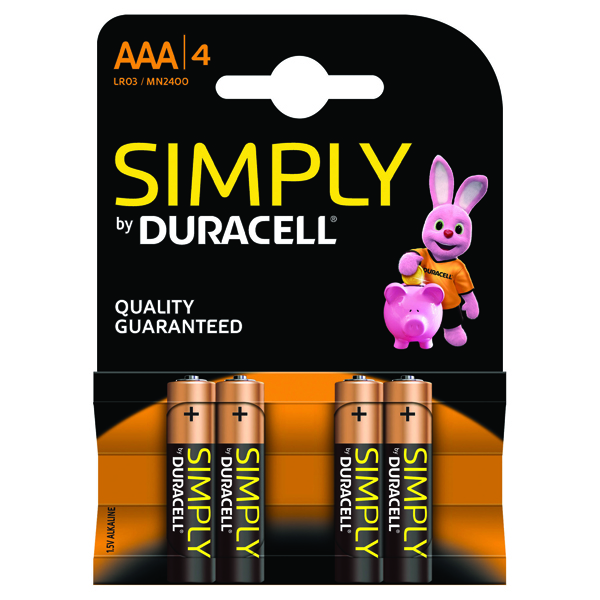 4 x Duracell Simply Battery  AAA (Long-lasting and consistent)  81235219
