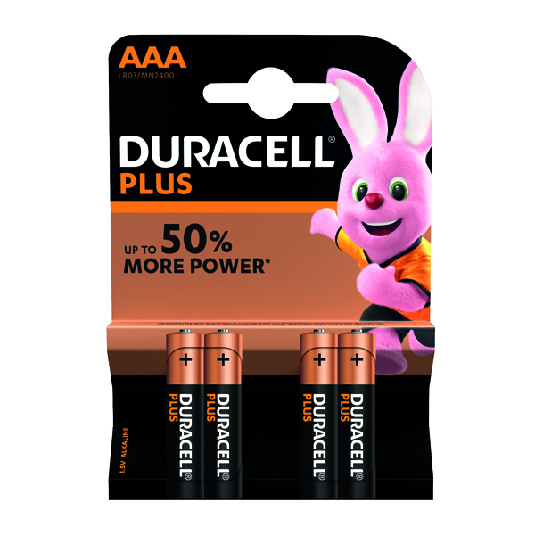 Duracell Plus AAA Battery (Pack of 4) 81275396