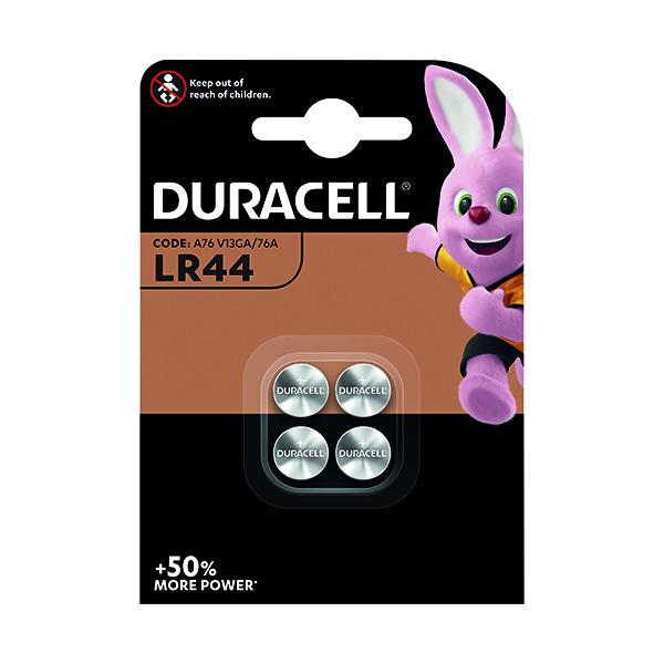 Duracell LR44 Alkaline Button Batteries (Pack of 4) A76/4