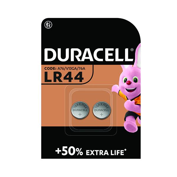 Duracell LR44 Alkaline Button Batteries (Pack of 2) A76/2