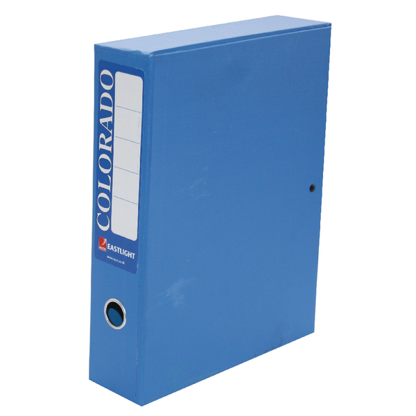 Rexel Colorado Box File A4 Blue (Pack of 5) 30443EAST