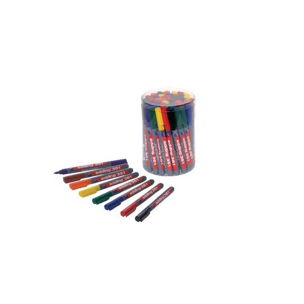 Edding 361 Drywipe Marker Assorted (Pack of 50) CP 43