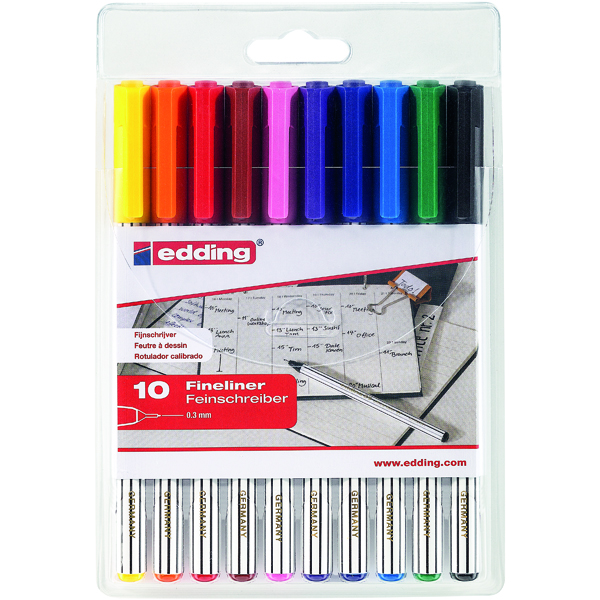 Edding 89 Office Liner Assorted (Pack of 10) 4-89-10