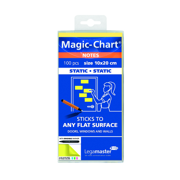 Legamaster Magic Notes 200x100mm Yellow with Pen (Pack of 100) 7-159405