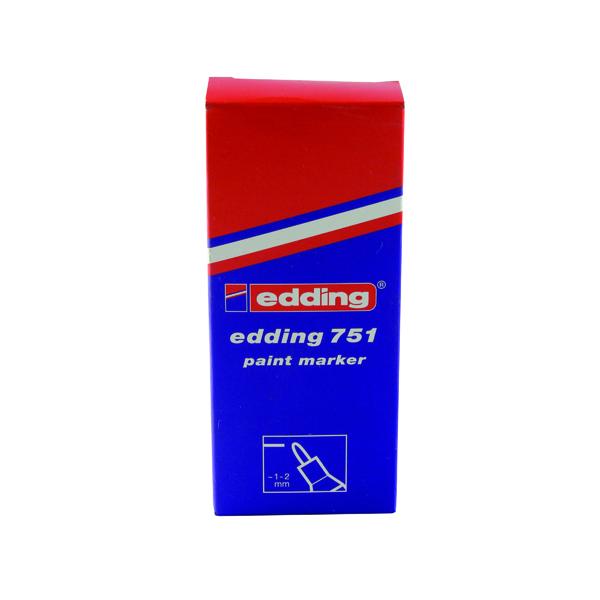 Edding 751 Bullet Tip Paint Marker Fine Silver (Pack of 10) 751-054
