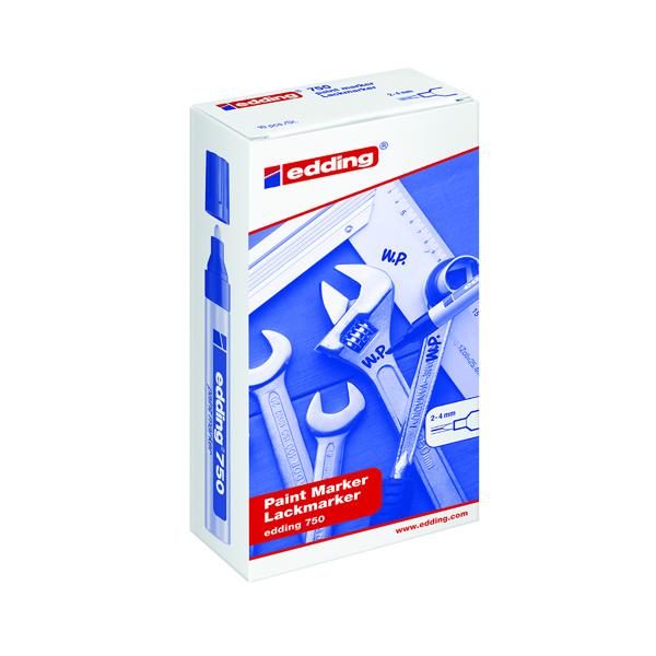 Edding 750 Opaque White Bullet Tip Paint Marker (Pack of 10) 750-049
