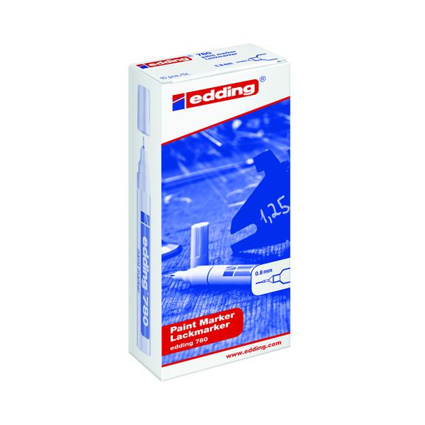 Edding 780 Paint Marker Extra Fine White (Pack of 10) 780-049