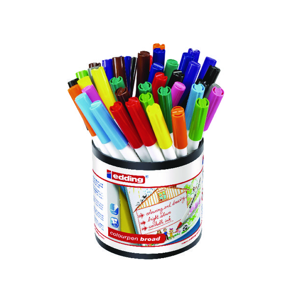 Edding Colourpen Broad Assorted (Pack of 42) 1406000