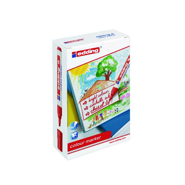 Edding 9 Colour Marker Chisel Tip Assorted (Pack of 12) 1415999